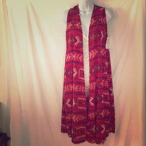 LuLaRoe x-small cover up/kimono